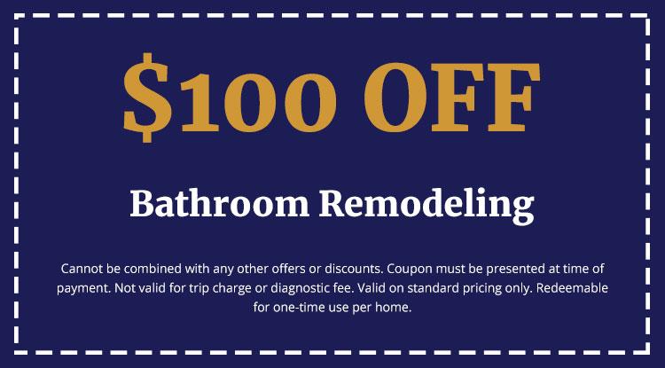 Discounts on Bathroom Remodeling