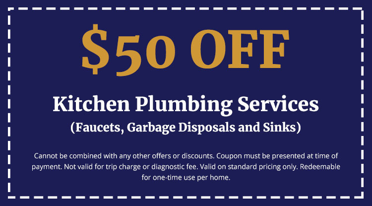 Discounts on Kitchen Plumbing Services