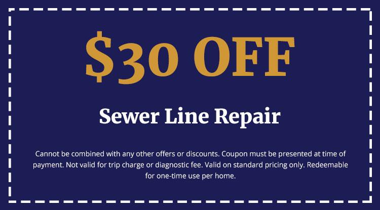 Discounts on Sewer Line Repair