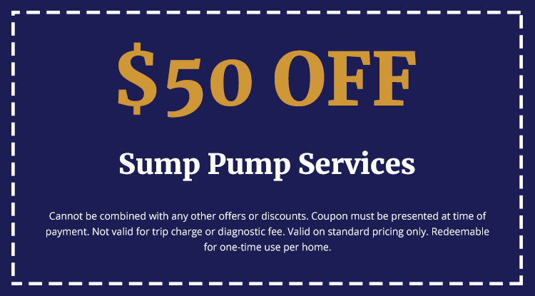 Discounts on Sump Pump Services