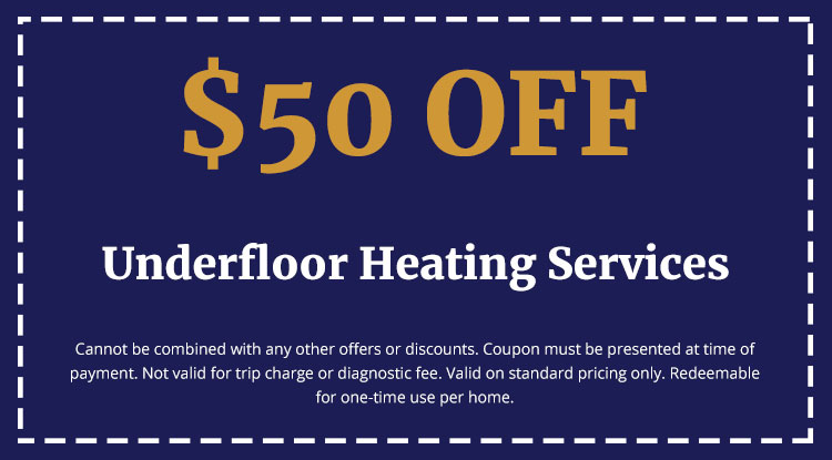 Discounts on Underfloor Heating Services