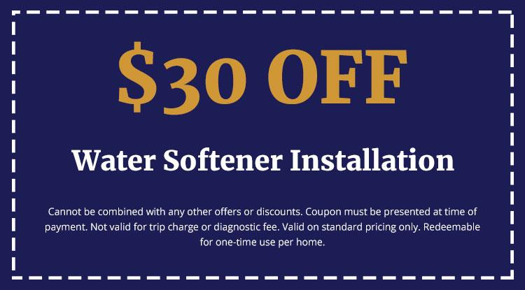 Discounts on Water Softener Installation
