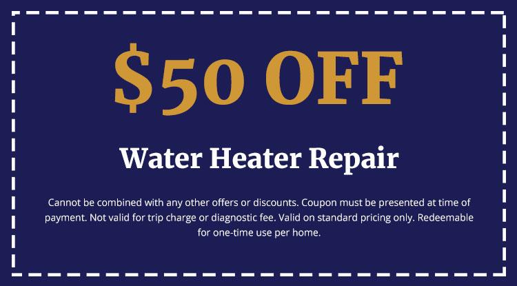 Discounts on Water Heater Repair